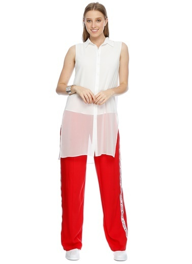 Black Pepper Bol Paça Pantolon Kırmızı